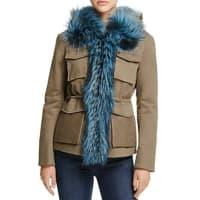 Maximilian FursSaga Fox Fur-Trimmed Military Jacket - 100% Bloomingdales Exclusive
