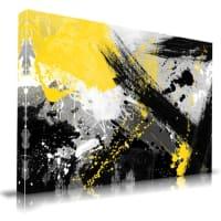 Maxwell DicksonYellow Jacket Abstract Canvas Print Wall Art16x20