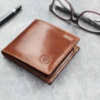 Maxwell ScottPersonalised Leather Wallet With Coin Section