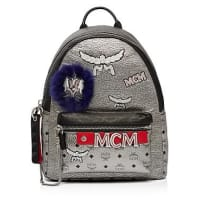 MCMStark Leather Insignia Backpack
