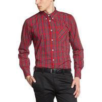 Merc1509214325 - Camisa casual de manga larga para hombre, color rouge (stewart red)