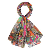 Merel By FrederiekSjaal Rock chick scarf col. Ruby Sparkle