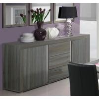 Meuble HouseBahut bois gris 220cm Lavigne