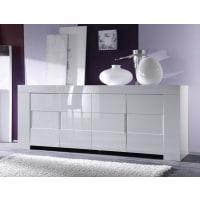 Meuble HouseBahut moderne blanc 4 portes Avril