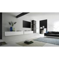 Meuble HouseEnsemble meuble TV laqué blanc brillant New Box