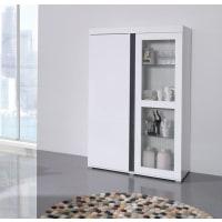 Meuble HouseVitrine 2 portes blanc avec détail noir Lavigne