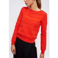 MexxSweatshirt mit Strukturstreifen, orange, orange