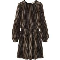 Michael KorsAralia Polka-dot Crepe Mini Dress - Black