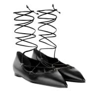 Michael KorsBallerinas - Kallie Lace Up Ballerinas Leather Black - in schwarz für Damen