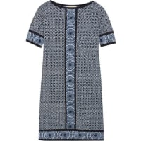 Michael KorsEdo Printed Stretch-jersey Mini Dress - Blue