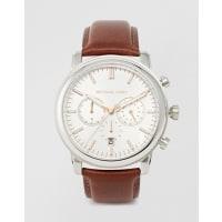 Michael KorsMK8372 Landaulet - Orologio cronografo con cinturino in pelle marrone - Marrone