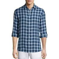 Michael KorsLarge-Check Tailored-Fit Shirt, Blue