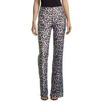 Michael KorsLeopard-Print Flared Trousers, White Multi