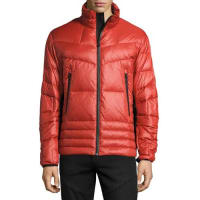 Michael KorsNeoprene-Trim Puffer Jacket, Red