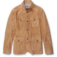 Michael KorsSlim-fit Nappa Suede Field Jacket - Braun