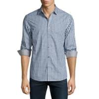 Michael KorsTailored-Fit Plaid-Print Sport Shirt, River Blue