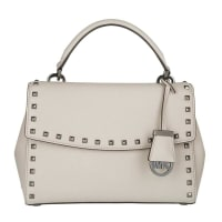 Michael KorsMICHAEL Michael Kors Ava Stud SM TH Satchel Cement Bag in beige