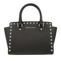 Michael KorsMICHAEL Michael Kors Selma Studded MD TZ Satchel Black Bag in black