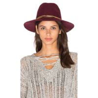 Michael StarsGilded Rancher Wide Brim Hat in Burgundy