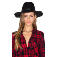 Michael StarsWorld Traveler Wide Brim Hat in Black