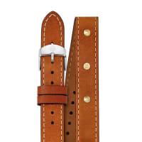 MicheleCalf Leather Watch Strap, Saddle