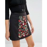 Millie MackintoshEmbroidered Skirt - Black