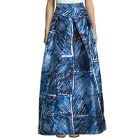 MillyFull Abstract Printed Ball Skirt, Blue