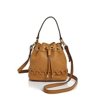 MillySmall Astor Whipstitch Drawstring Bucket Bag