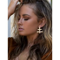 Minc CollectionsWomens Minc Collections Gold Crossroads Earrings Gold One Size