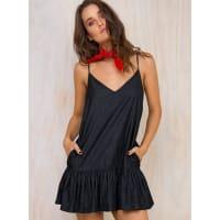 MinkpinkWomens Minkpink Chambray Swing Dress Pale Blue L/14