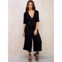 MinkpinkWomens Minkpink Hudson Cropped Jumpsuit Black S/10