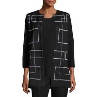 MisookClean Lines Knit Jacket, Plus Size