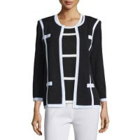 MisookMilano Jacket with Piping, Plus Size