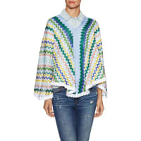 MissoniCotton Intarsia V Neck Poncho