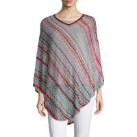 MissoniCrochet Striped Poncho