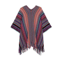 MissoniFringed Metallic Crochet-knit Poncho - Purple