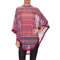 MissoniIntarsia Scalloped Edge Poncho