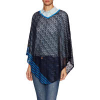 MissoniRibbed V Neck Poncho