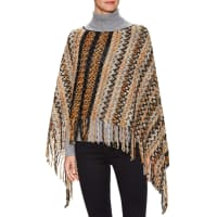 MissoniTextured Stripe Fringe Edge Poncho