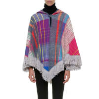 MissoniWool hooded poncho, size L, Multicolor