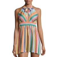 MissoniZigzag Beach Coverup Dress, Multicolor