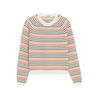 Miu MiuStriped Wool-blend Sweater - Ivory