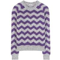 Miu MiuPrinted wool, alpaca and silk sweater