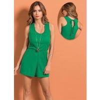 Moda PopMacaquinho Verde Decote Costas com Amarracao
