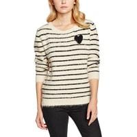 Molly BrackenE615H16, Suéter para Mujer, Beige (Offwhite), Talla Única