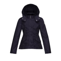 MonclerAyrolette Hooded Raincoat, Dark Blue, Size 2-3
