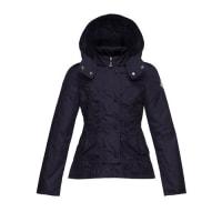 MonclerAyrolette Hooded Raincoat, Dark Blue, Size 2-3
