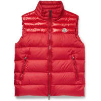 MonclerDupres Quilted Shell Down Gilet - Red