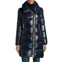 MonclerJoinville High-Collar Puffer Jacket, Navy