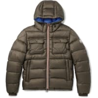 MonclerMorane Quilted Shell Hooded Down Jacket - Army green